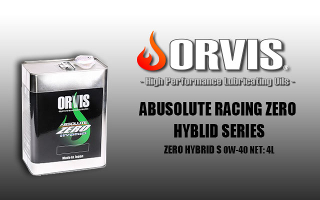 【ABUSOLUTE RACING ZERO HYBLID SERIES-ZERO HYBRID S】エンジンオイル(0W-40)1缶4L