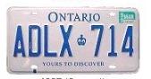 オンタリオ州のナンバープレート